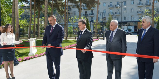 "Ilham Aliyev attended the opening ceremony of a new building of the ""Azerbaijan National Encyclopedia"" science center"